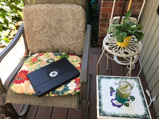 Mommy's Iced Sun Tea And IPad
