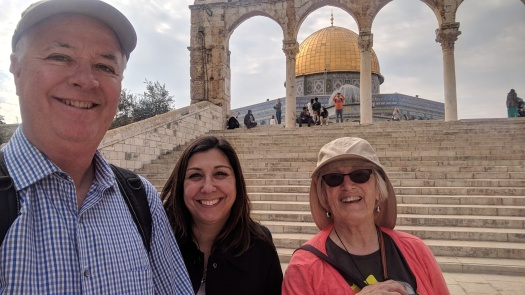 Mommy On Temple Mount With Brother And Sister In Law Dome Of The Rock In Background